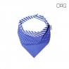 Obojstranná modrá šatka