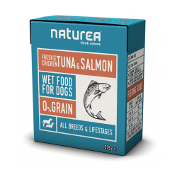 Bezobilninove krmivo Naturea Kura s tuniakom a lososom